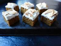 Pumpkin Spice Bars with Toasted Meringue