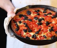 Focaccia with Tomatoes and Olives